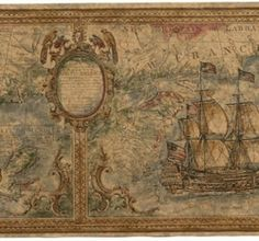 Old world map ships red trim nautical wallpaper border norwall this would make a beautiful table runner vintage nautical feel more information more information johnsons world map freerunsca Gallery