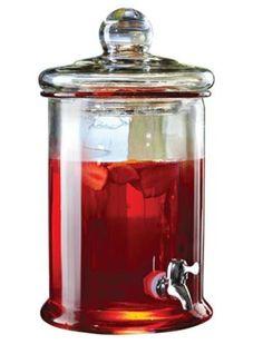 dispenser 5lts  em vidro com torneira