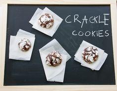 Crackle cookies de chocolate
