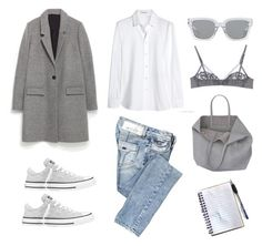 Take Note by fashionlandscape on Polyvore featuring Mode, Yves Saint Laurent, Zara, Miss Sixty, La Perla, Converse, Maison About and 3.1 Phillip Lim