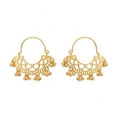Gold plated silver wire hoops  #earring #hoop #vijayshreesovanidesigns