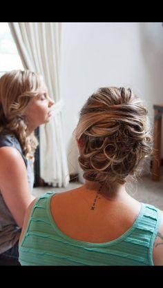 Wedding hair Bridesmaid hair