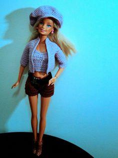 Barbie Crochê Miniaturas e Coisas Mais - De Tudo Um Pouco e Muito Mais: Coleção de Roupas de Crochê Para Barbie Criadas por Pecunia Milliom 4