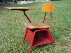 Heywood Wakefield Child's Desk Chair with underseat storage!