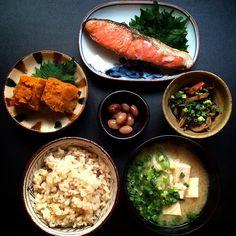 Japanese Dinner, Japanese Food, Asian Recipes, Healthy Recipes, Balanced Meals, Aesthetic Food, Korean Food, Food Presentation, Food Inspiration