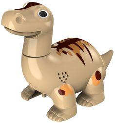 Digi Dino, de interactieve Dinosaurus, die echte Dino geluiden kan maken en zelfs kan praten!   Afmeting: 152x64x114 mm - Digi Dino beige Silverlit