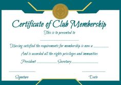 Free honorary life membership certificate templates free for Life membership certificate templates