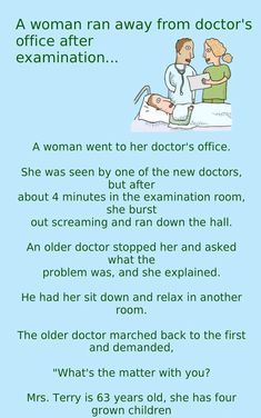 Humor Discover A Women Ran Away from A Doctors Examination Room Funny Jokes Everyday Latest Funny Jokes Clean Funny Jokes Stupid Jokes Funny Jokes For Adults Good Jokes Hilarious Funny Marriage Jokes Relationship Jokes Irish Jokes Clean Funny Jokes, Latest Funny Jokes, Funny Jokes For Adults, Hilarious, Funny Pics, Funny Marriage Jokes, Funny Relationship Jokes, Crazy Jokes, Stupid Jokes