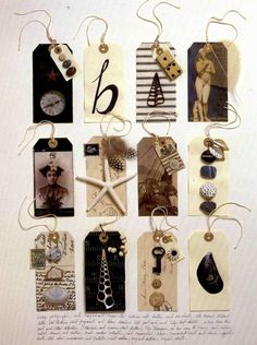 amazing gift tags - tag a gift or use as decoration - or both!   tag collage- Sarah Lugg <3<3
