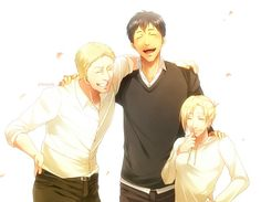 Bertholdt Hoover, Reiner Braun and Annie Leonhart ((LOOK AT THEM,,, LOOK JUST LOOK,,, THEYRE JUST FUCKING KIDS,, JUST KIDS,,, EVERYONE FORGETS THAT,,,))