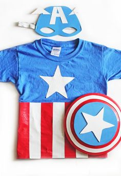 DIY Captain America Costume #kids #Halloween #Great Pumpkin Fest Days www.pumpkinfestdays.com