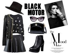 Exciting black motor outfits at OASAP! Womens fashion