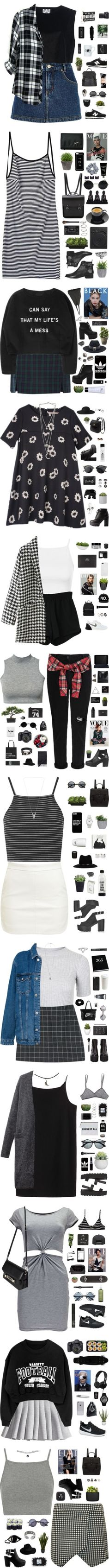 August by amy-lopezx on Polyvore featuring moda, River Island, New Balance, Ava Catherside, Street Level, Nikon, HUF, Topshop, LG and Retrò