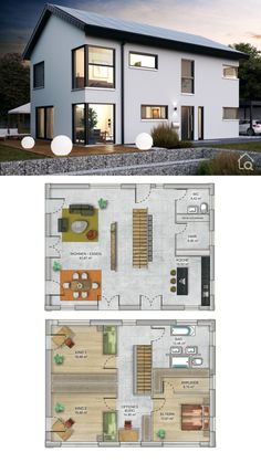 Architecture Discover Modern Family House Architecture Design Ideas with Open Floor Plans Contemporary European Styles Small Modern House Plans, Modern Family House, Beautiful House Plans, Family House Plans, A Frame House Plans, House Floor Plans, Modern Architecture Design, House Architecture, Luxury House Plans