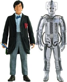Second doctor and old cybermen figurines.