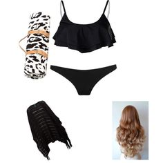 Swimming outfit by wrileyperez on Polyvore featuring polyvore, fashion, style, Lauren Ralph Lauren, Prism, Radio Fiji and Maslin & Co.
