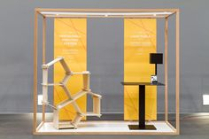 Interesting design for a small space. #exhibit #booth #tradeshow
