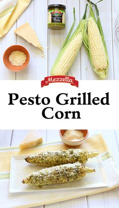 Pesto and parmesan turns traditional Mexican Street Corn into a Mediterranean treat. Learn how to transform your Cinco de Mayo with this Pesto Grilled Corn.