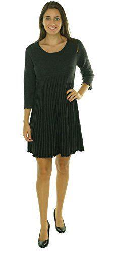 Calvin Klein Women's Striped Two Toned Honeycomb Knit Dress (S, Charcoal/Black) Calvin Klein http://www.amazon.com/dp/B013BCPVMU/ref=cm_sw_r_pi_dp_bbBgwb03RD80A