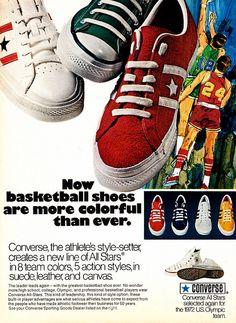 958de2e0acd2d8 Converse All Stars Basketball Shoes 1971 Magazine Ad Vintage Print