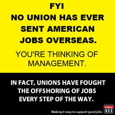 Unions are for working Americans... something Trump can Not say!!