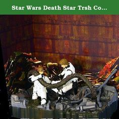 Star Wars Death Star Trsh Compactor Luke Skywalker and Han Solo. Original movie version of them trying to save Princess Leia (HA-HA).