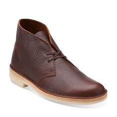 Clarks Originals Desert Men's Brown Tumbled Leather Chukka Boots 26104990