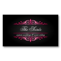 Luxury Event Planner Business Cards Fashion Custom