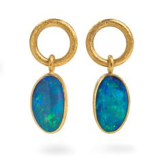 Josef Koppmann - 24ct #Gold and #Silver #Earrings with #Oval Shaped #Opal. #MothersDay #Jewellery #Earrings #Jewelry http://directory.thegoldsmiths.co.uk/seasonal/mothers-day/#modal17