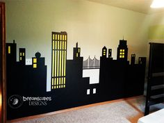 Gotham City Skyline-Superhero Room!
