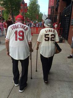 They love different teams but they're on the same team! Together since 1952 ❤❤❤