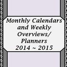 2014 - 15 Monthly Calendars and Weekly Planning Maps/Overviews (Vine Theme)!  In this fantastic set of 3 fully editable Power Point  Files you will...
