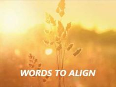 Abraham Hicks -- Words to Align