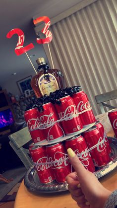 Krone und Cola # Whisky # Bourbon # Cocacola Alcohol cake for a birthday! Crown and Coke # Whiskey # Bourbon # Cocacola cake Birthday Cake For Husband, Birthday Present For Boyfriend, 21st Birthday Cakes, Presents For Boyfriend, Birthday Presents, 23 Birthday, Alcohol Birthday Cake, Birthday Ideas, Alcohol Cake