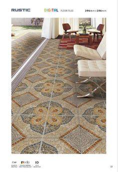 Rustic Floor Tiles Design 9079 - Millennium Tiles 400x400mm...  Rustic Floor Tiles Design 9079 - Millennium Tiles 400x400mm (16x16) Digital Ceramic 3D Floor Tiles Series. http://ift.tt/2cmozWQ