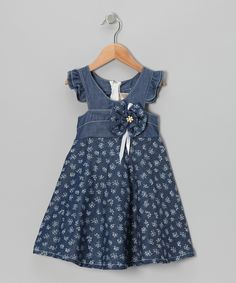 Loving this the Silly Sissy Denim Angel-Sleeve Dress - Toddler & Girls on #zulily! #zulilyfinds