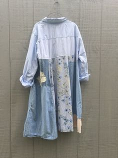 upcycled cotton Dress / romantic Upcycled / Patchwork Dress /