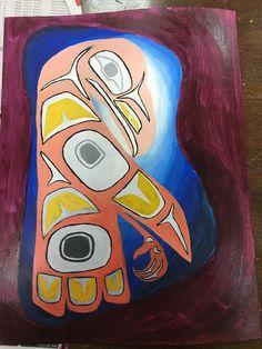 Finished product of Haida Art Painting