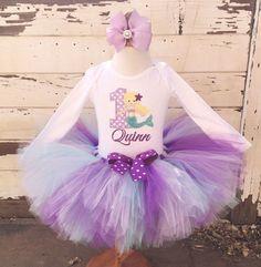 Mermaid 1st Birthday Tutu Outfit Lavender by PartyDecorandMoore