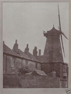 SOUTHSEA 1923: Old Windmill and cottages. Vintage Hampshire Print. Hants. | eBay