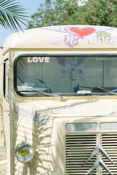 cool ibiza wedding with Love Truck