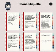 workplace telephone etiquette - Customer Service Job - Ideas of Customer Service. workplace telephone etiquette - Customer Service Job - Ideas of Customer Service Job - workplace telephone etiquette Customer Service Training, Customer Service Quotes, Customer Experience, Job Interview Questions, Job Interview Tips, English Vocabulary Words, Learn English Words, Phone Etiquette, Etiquette And Manners