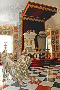 coronation room, Rosenborg Castle, Copenhagen, Denmark