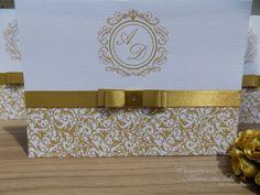Convite de Casamento Dourado! Surpreenda seus convidados...