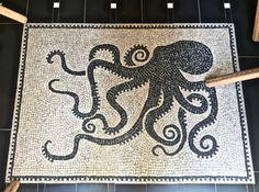 Octopus I Eating in Rome's Monti Neighborhood I www. Easy Mosaic, Pebble Mosaic, Mosaic Glass, Mosaic Tiles, Kraken Art, Ancient Greek Art, Octopus Art, Mosaic Projects, Pattern And Decoration