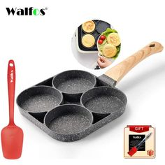Breakfast Chef™️- Make multiple dishes in one skillet - with Scraper