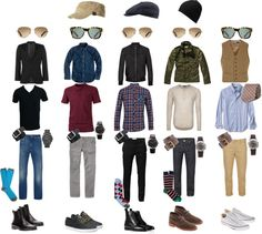 """Mens Stylish Basics"" by jemgirl817 on Polyvore"