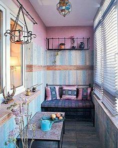 Pink balcony provance «#идеидлябалкона #балкон #красота #фиолетовый»