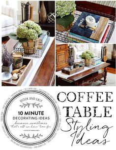 Quick & Easy Decorating - Coffee Table Styling - Finding Home