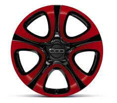 Classic FIAT Red and Black rims will have heads turning to look at your set of wheels...
